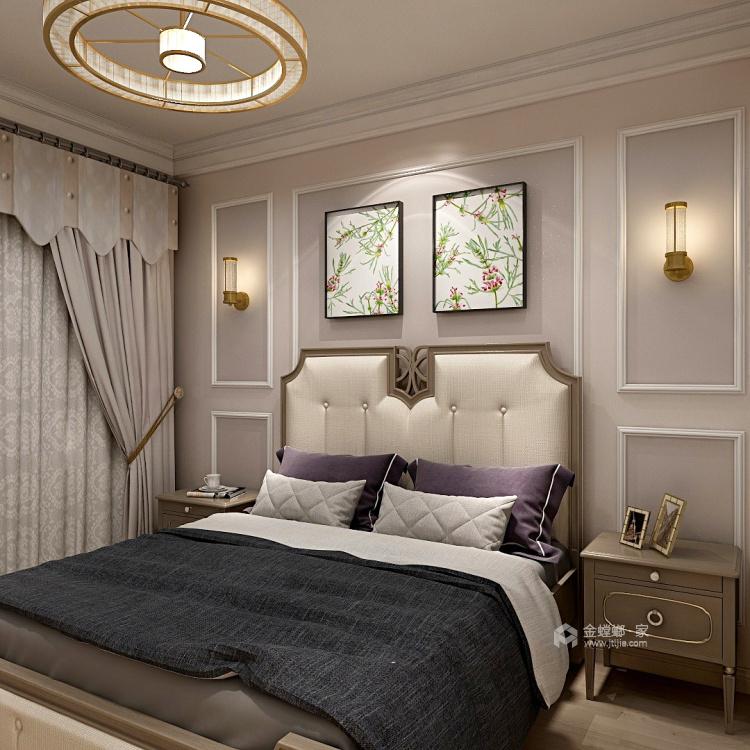144㎡现代简约风,线条高级打造轻奢感-卧室效果图及设计说明