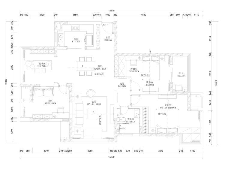 126㎡——期待属于真正自己的家-平面设计图及设计说明