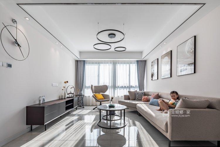126㎡——期待属于真正自己的家-客厅效果图及设计说明