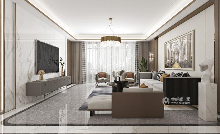 素雅,淡然,将所有生活回归本质-客厅效果图及设计说明