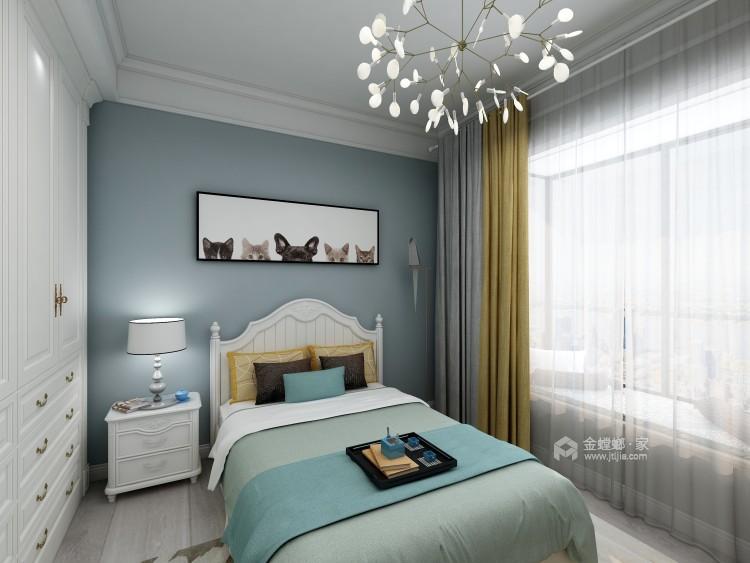 在欧式中寻找新生代的美,于忙碌中追求高品质的家-卧室效果图及设计说明