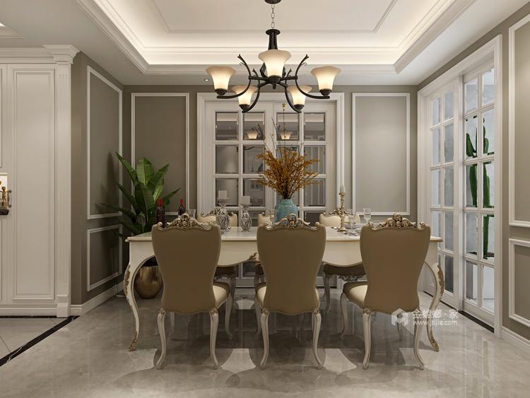 在欧式中寻找新生代的美,于忙碌中追求高品质的家-餐厅效果图及设计说明