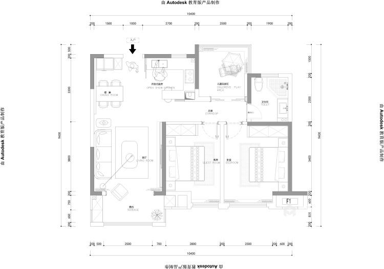 品质生活——97㎡橡树湾2室-平面设计图及设计说明