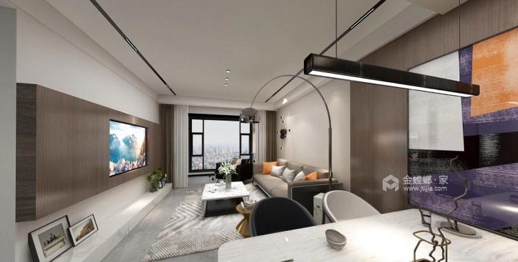 品质生活——97㎡橡树湾2室-客厅效果图及设计说明