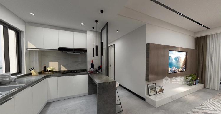 品质生活——97㎡橡树湾2室-餐厅效果图及设计说明