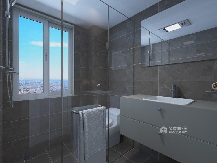 东西合壁的现代美,超舒适的生活空间!-卫生间