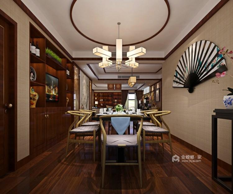 中式韵味,感受传统色彩的气质-餐厅效果图及设计说明
