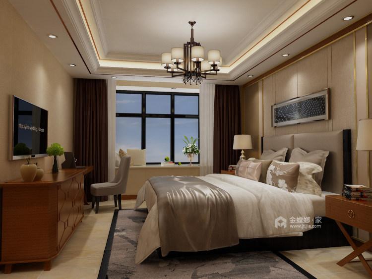 人文情怀镌刻新中式里的古风古韵~-卧室效果图及设计说明