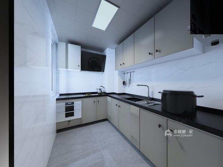 东西合壁的现代美,超舒适的生活空间!-厨房