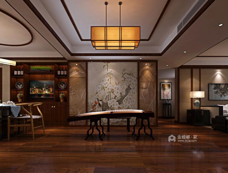中式韵味,感受传统色彩的气质-客厅效果图及设计说明