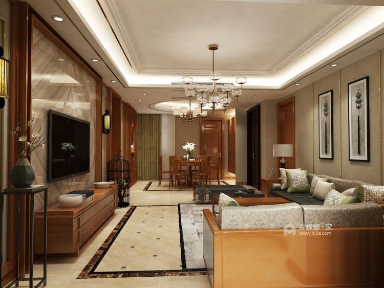 人文情怀镌刻新中式里的古风古韵~-客厅效果图及设计说明