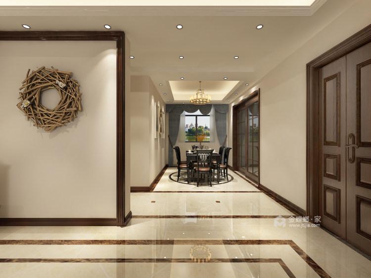 150平的三居室,这风格设计太美了!-餐厅效果图及设计说明