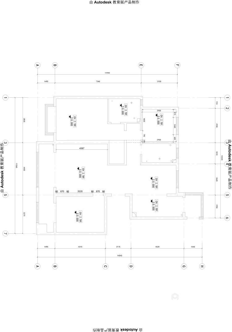 150平的三居室,这风格设计太美了!-业主需求&原始结构图