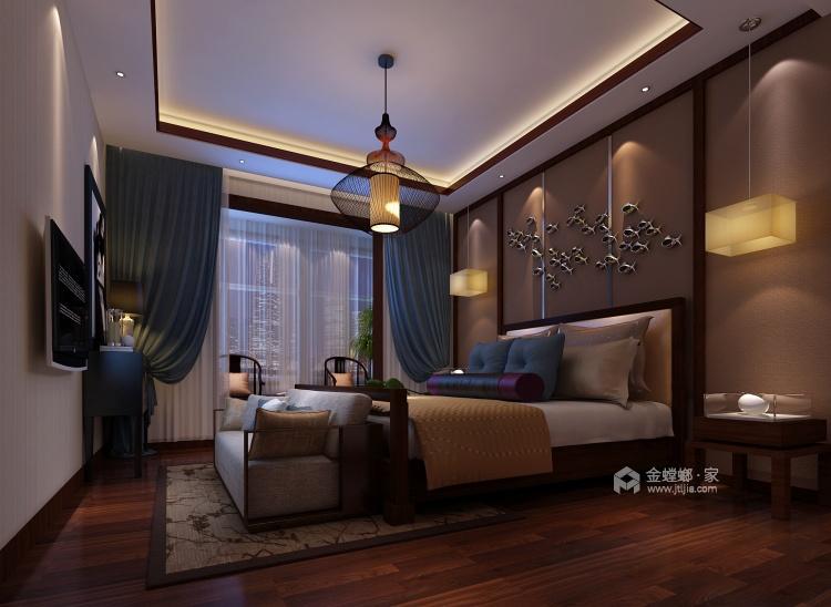 中式韵味,感受传统色彩的气质-卧室效果图及设计说明