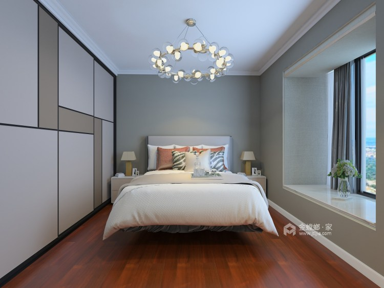 东西合壁的现代美,超舒适的生活空间!-卧室效果图及设计说明
