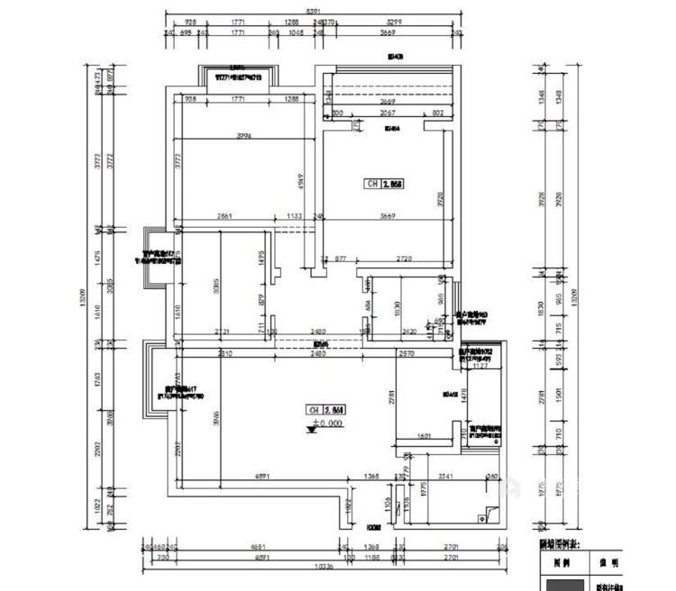 东西合壁的现代美,超舒适的生活空间!-业主需求&原始结构图