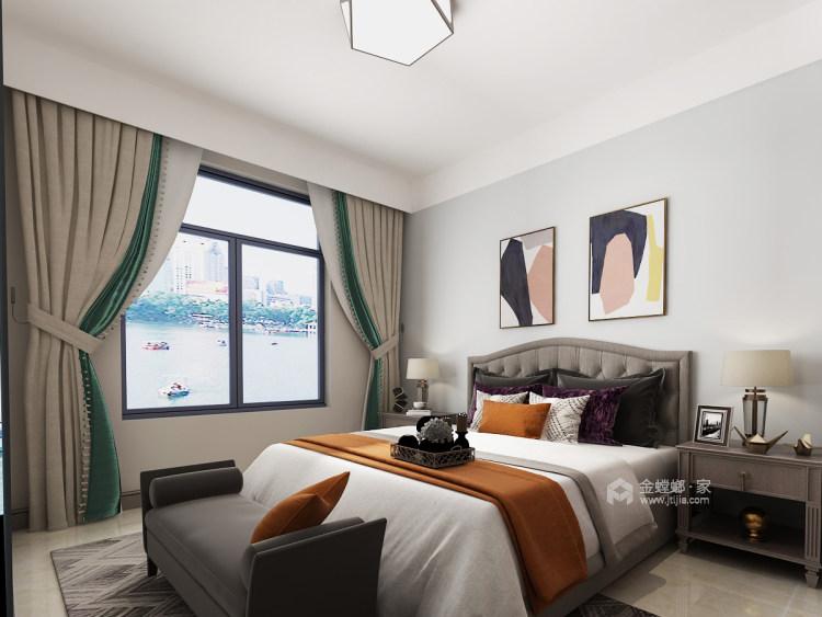 150平的三居室,这风格设计太美了!-卧室效果图及设计说明