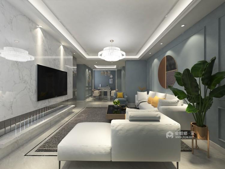 东西合壁的现代美,超舒适的生活空间!-客厅效果图及设计说明