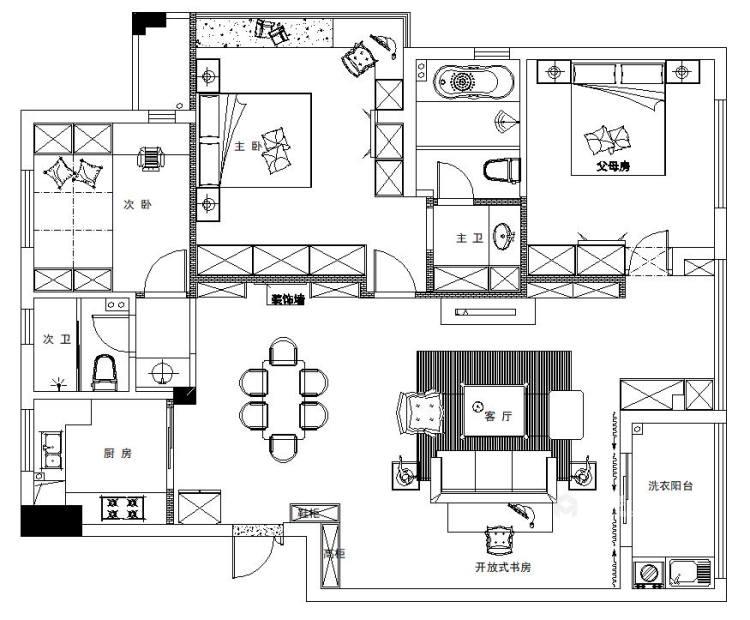 卧室设计新趋势,这才是主流!-平面设计图及设计说明