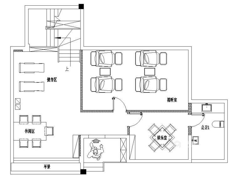 480㎡打造别具一格的私密别墅风-平面设计图及设计说明