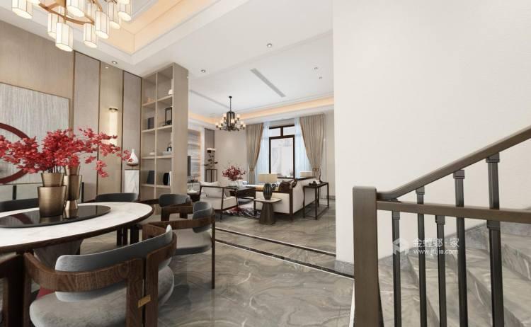480㎡打造别具一格的私密别墅风-餐厅效果图及设计说明