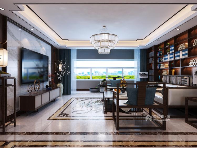 200㎡人文艺术演绎东方之美-客厅效果图及设计说明
