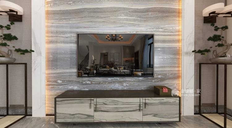 480㎡打造别具一格的私密别墅风-客厅效果图及设计说明