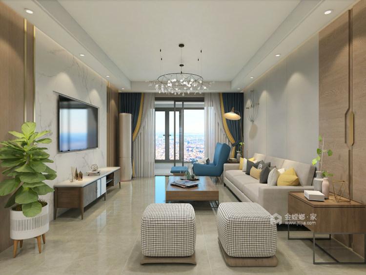 在颜值与功能中,发掘最有归属感的家!-客厅效果图及设计说明