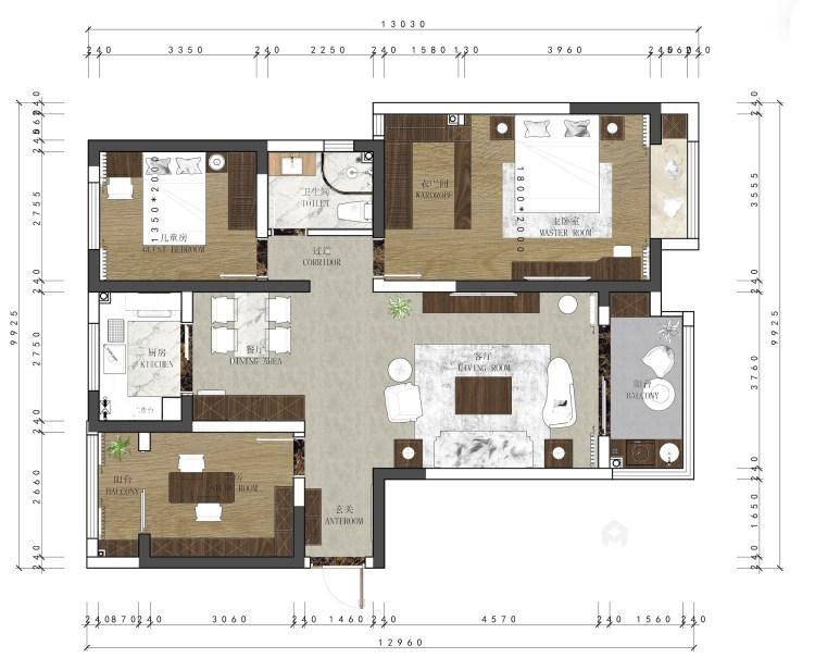 在颜值与功能中,发掘最有归属感的家!-平面设计图及设计说明