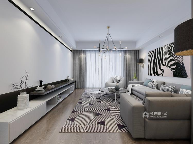 简约时尚,舒适生活-客厅效果图及设计说明