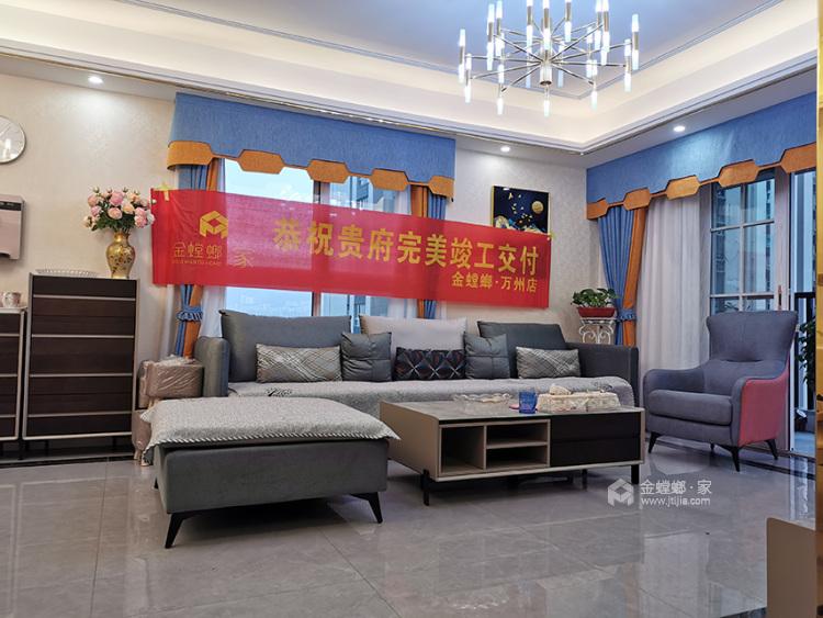 现代轻奢风,温馨不繁琐-客厅效果图及设计说明