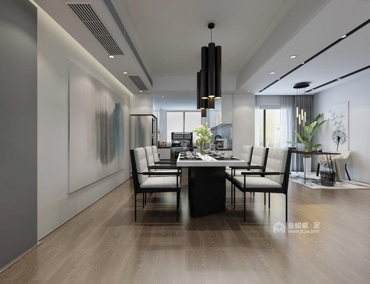 简约时尚,舒适生活-餐厅效果图及设计说明