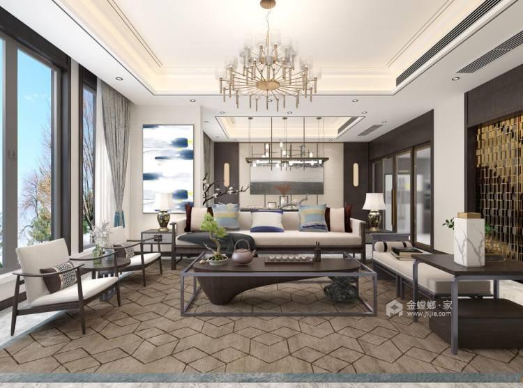 中式品味,大道至简-客厅效果图及设计说明
