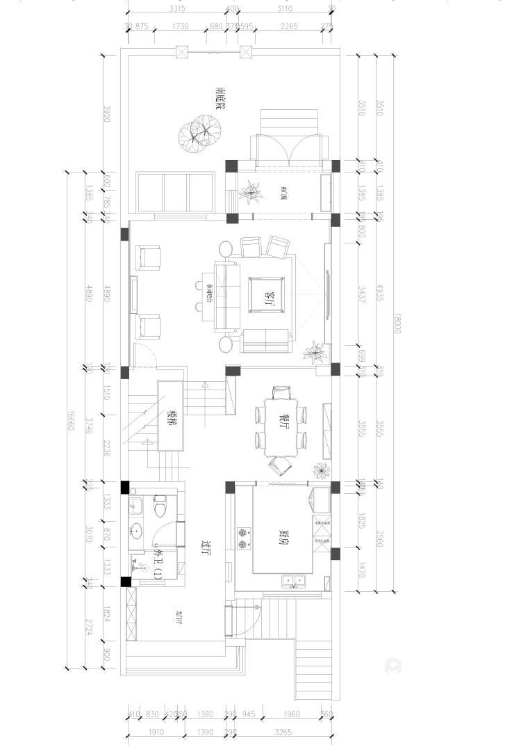 三口之家的轻奢漫时光-平面设计图及设计说明