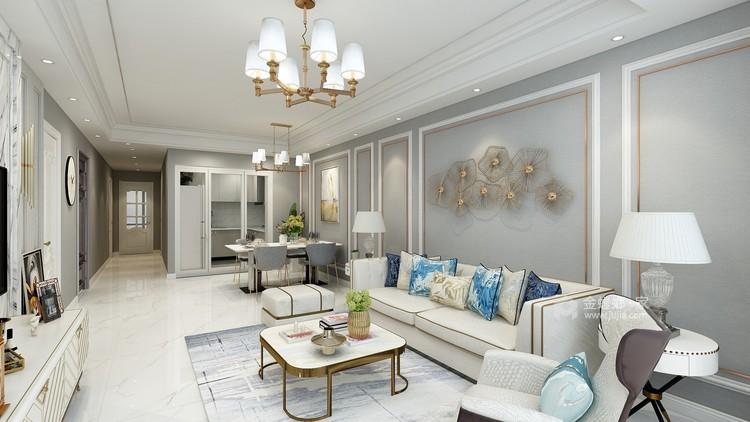 现代简约打造品质追求-客厅效果图及设计说明
