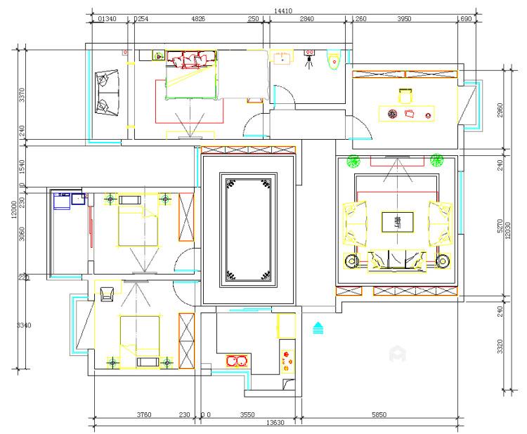 传统与现代的最佳碰撞-平面设计图及设计说明