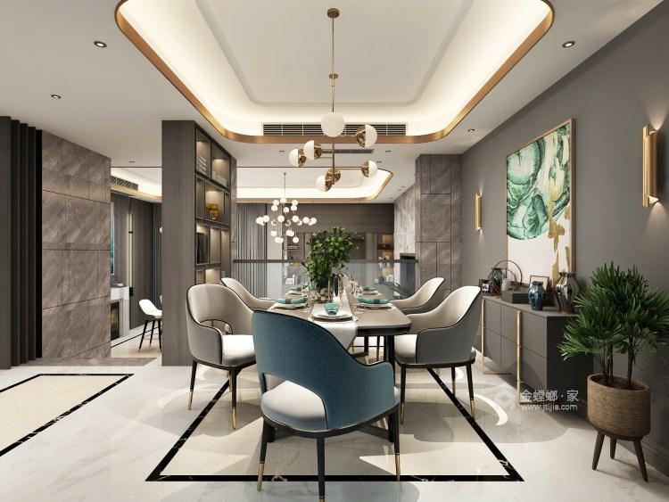 三口之家的轻奢漫时光-餐厅效果图及设计说明