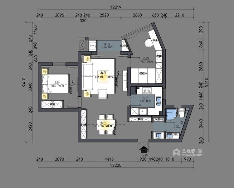 小户型大收纳-平面设计图及设计说明