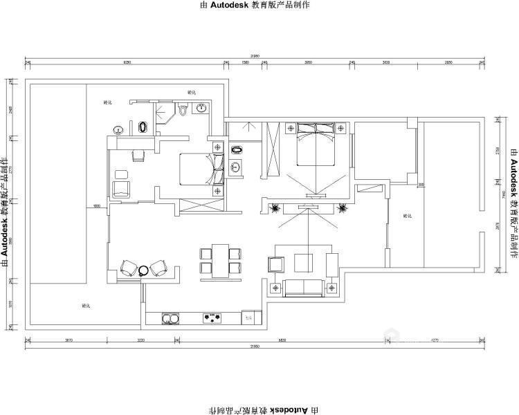 落落大方的老年房,舒适!-平面设计图及设计说明