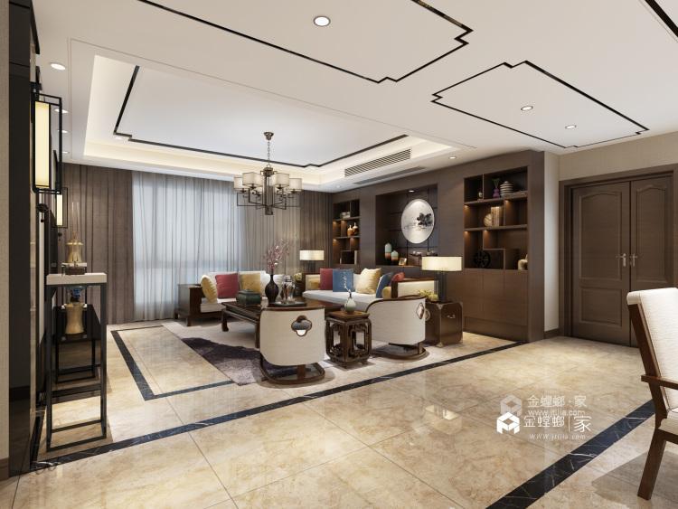 传统与现代的最佳碰撞-客厅效果图及设计说明