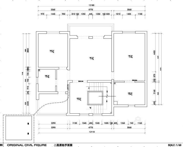 中式品味,大道至简-业主需求&原始结构图