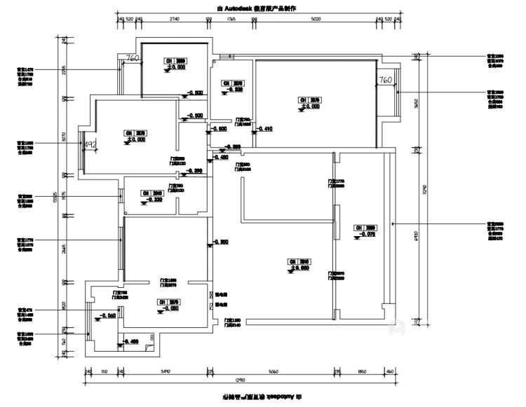 148平时尚现代两口之家-业主需求&原始结构图