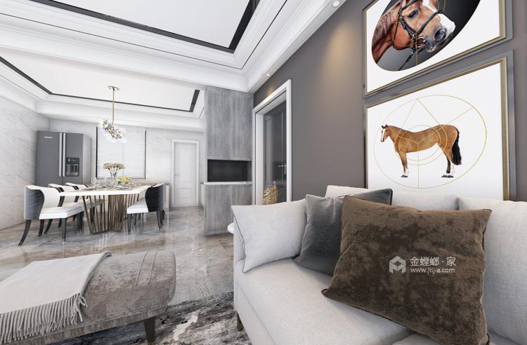 148平时尚现代两口之家-餐厅效果图及设计说明