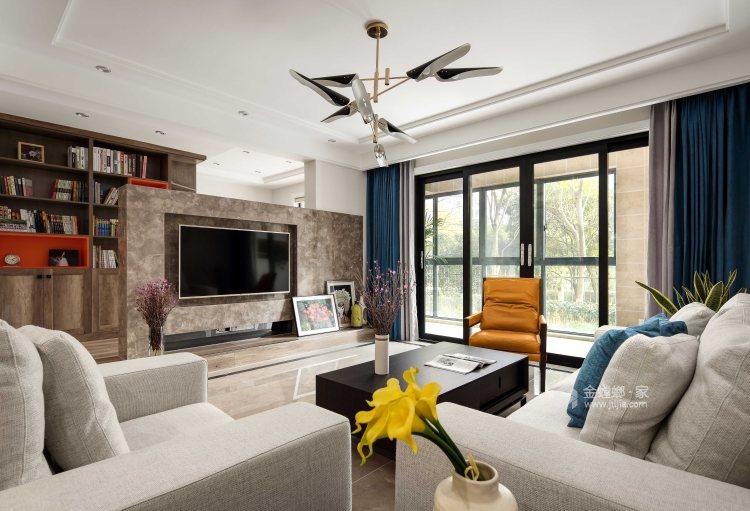 不拘一格,缤纷色彩打造惬意生活-客厅效果图及设计说明