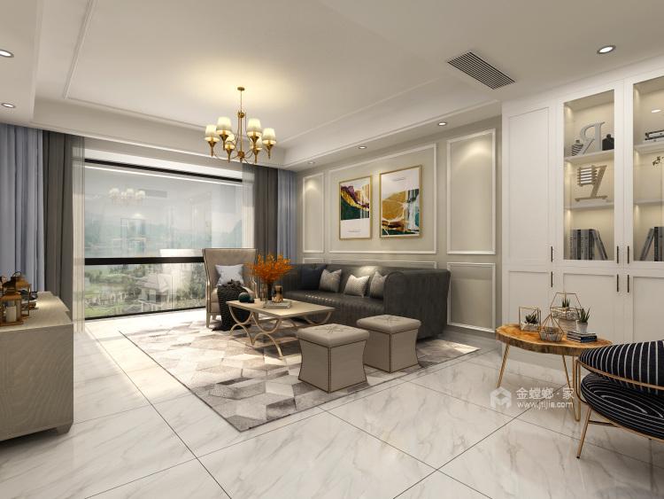 140平复式·简雅现代,让家有不一样的温馨-客厅效果图及设计说明
