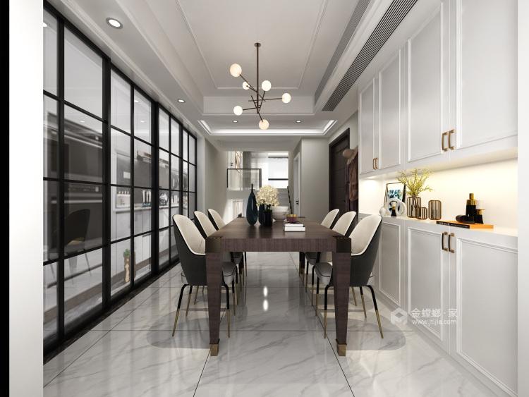 140平复式·简雅现代,让家有不一样的温馨-餐厅效果图及设计说明