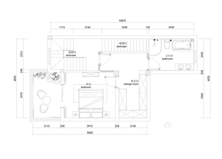 深沉的东方意境   静雅的书香门第-平面设计图及设计说明
