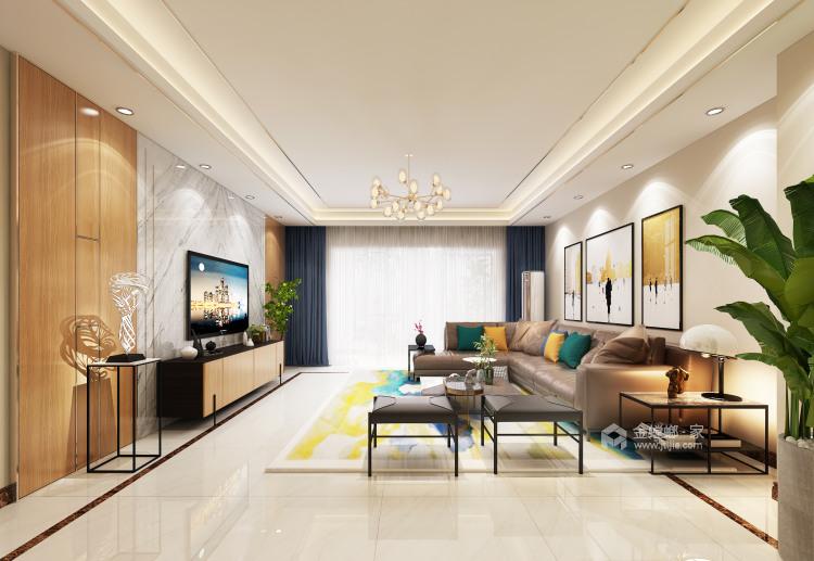 别墅新作|半山午后310㎡大平层-客厅效果图及设计说明