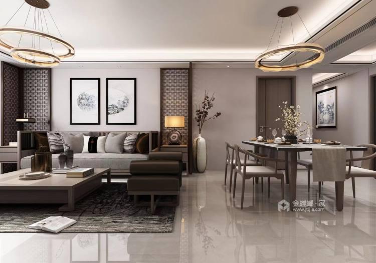 176㎡新中式韵雅 | 此身安处是吾家-客厅效果图及设计说明