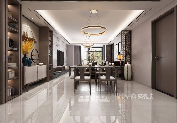 176㎡新中式韵雅 | 此身安处是吾家-餐厅效果图及设计说明